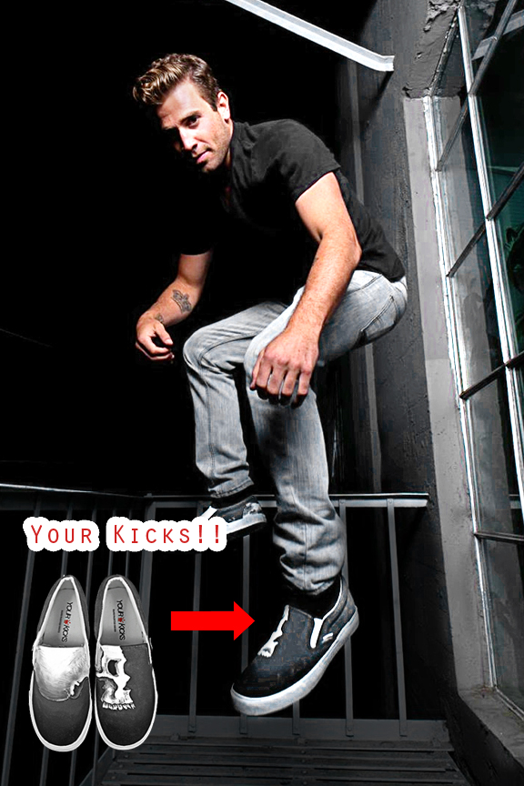 Jason Wahler Sporting Your Kicks!
