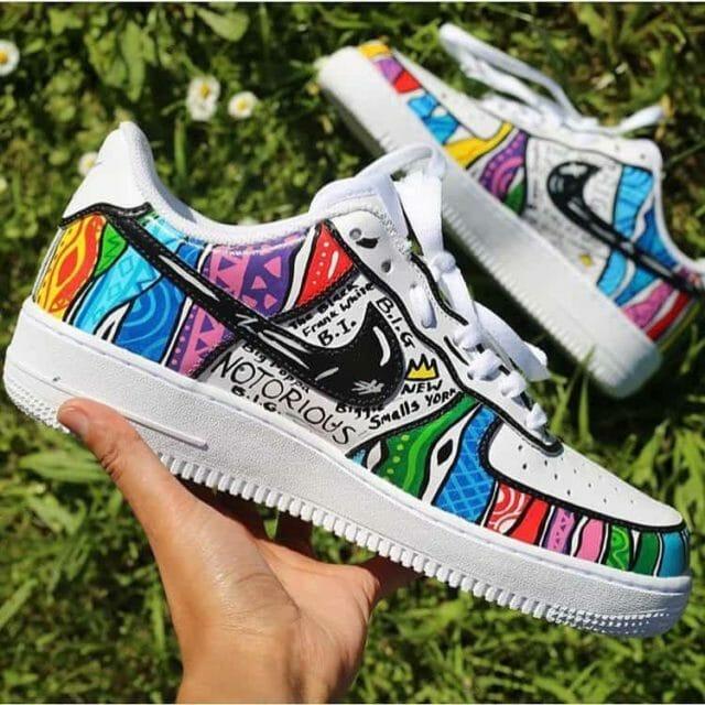 Custom painted Nike air force Ones sneakers