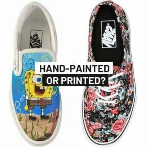 Hand painted Vans vs printed Vans