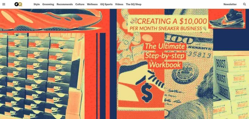 Screenshot of QC.com for sneaker investing.